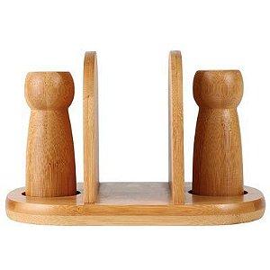 Conjunto de Mesa 3 Peças Porta Guardanapos Bamboo