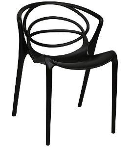 Cadeira de Plastico Olympia  Fixa Preta