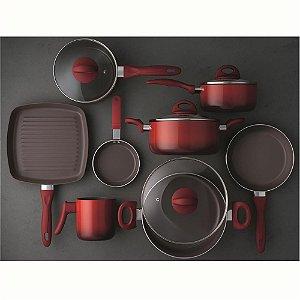 Conjunto de Panelas 8 Pçs Ceramic Life Smart Plus Vermelho 4791/104