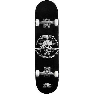 Skateboard Mormaii 498400 Chill Caveira Preto e Branco