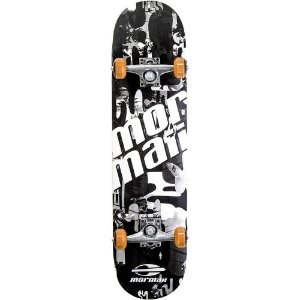Skateboard Mormaii Chill Preto e Branco