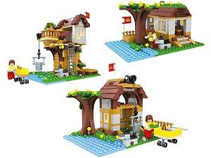 Blocos de montar Bee Blocks - 3 em 1 Super Aventura na Árvore 384 Pçs 2576