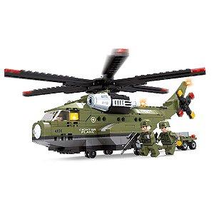 Blocos de montar Bee Blocks Helicoptero Militar de Ataque 452 Pçs 2541