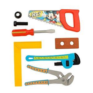 Kit Ferramentas Infantil Disney Mickey Com Capacete 9 Peças 030876