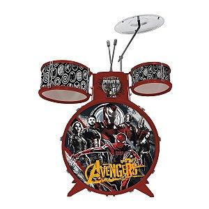 Bateria Infantil Musical Os Vingadores - Toyng 34473