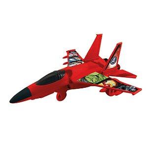 Avião Vingadores a pilha Marvel - Toyng 33142