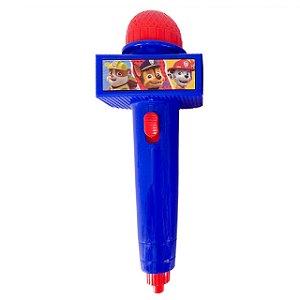 Microfone Infantil com Eco e Luz - Azul - Patrulha Canina 32427