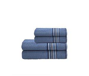 Toalha Acqua Por Cor Rosto 45X70 Azul R7002