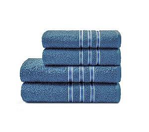 Toalha Festiva de Rosto 45X70 Azul