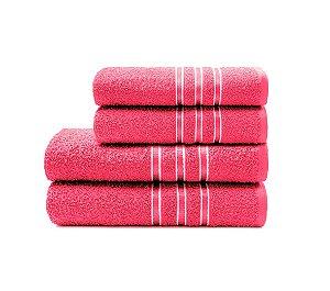 Toalha Festiva de Rosto 45X70 Pink