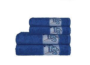 Toalha Naturae de Rosto 45X80Cm Azul Royal