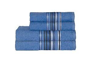 Toalha Vegas Plus Color de Banho 75X150 Azul Claro