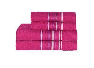 Toalha Vegas Plus Color de Banho 75X150 Pink