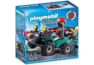 Playmobil - Fugitivo Com Quadriciclo - 1683