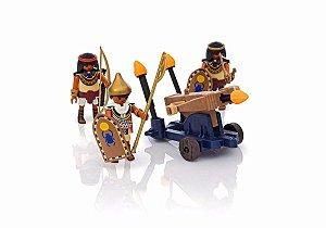 Playmobil History - Soldado do Faraó com Artilhadeira - 1662