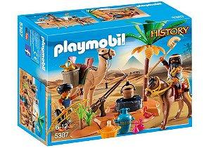 Playmobil - Ladrões Com Tesouro e Acampamento - 1661