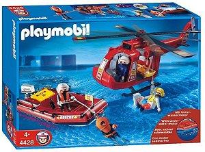 Playmobil Bote e Helicóptero de Resgate 1194