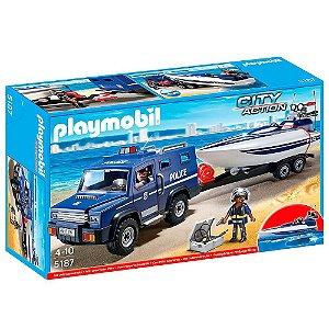 Caminhao Policial Com Bote 1193 Playmobil