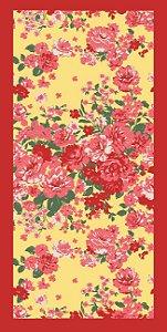 Toalha Athenas Banho 65Cmx130Cm Fundo Bege com Floral