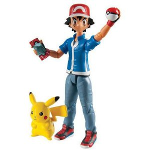 Boneco Ash E Pikachu Com Pokebola E Pokedex - Action Figure Pokemón 1960