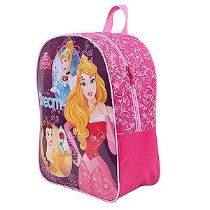 Mochila Escolar G Disney Princesas Dermiwil Rosa/roxo 30420