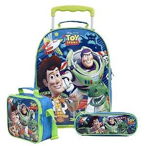 Kit Escolar Mochilete + Lancheira + Estojo Toy Story