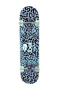 Skateboard Semi-Pro Rodas PU Labirinto