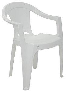 Cadeira de Polipropileno c/ braços Itajubá 92223/010 Branca Tramontina
