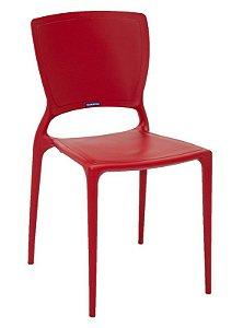 Cadeira Sofia Vermelha Fechada Tramontina 92236/040