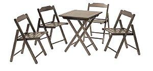 Conjunto 5 peças mesa e 4 cadeiras Beer Tabaco 10630/002