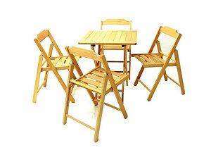 Conjunto 1 Mesa e 5 Cadeiras Verniz Beer Tramontina 10630/006