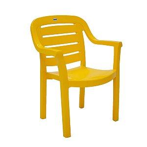 Cadeira Plástica Poltrona Tramontina Miami 92238/000 Amarelo