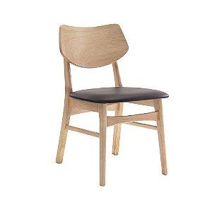 Cadeira Edna Design Natural Assento Café