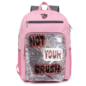 Mochila G Capricho  Not Your Crush Lantejolas 11319
