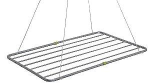 Varal de Teto 56x120cm em Alumínio - MOR