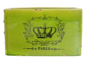 Vaso de Cerâmica Book Paris Crown Verde - Urban