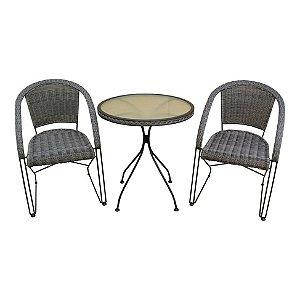 Conjunto Lisboa Mesa com 2 Cadeiras