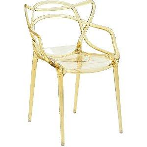 Cadeira Allegra Amarelo Translúcido
