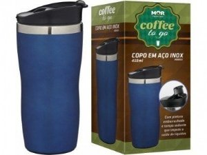 Copo Térmico Coffee To Go 450ml Azul