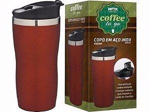 Copo Térmico Coffee To Go 450ml Vermelho - MOR
