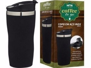 Copo Térmico Coffee To Go 450ml Preto - MOR