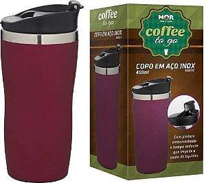 Copo Térmico Coffee To Go 450ml Rosa
