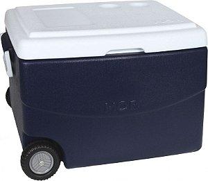 Caixa Térmica Glacial Azul 70L com Alça e Rodas