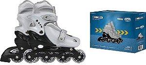 Roller ROW Infantil Cinza M (Tam. 35 a 38)  - MOR