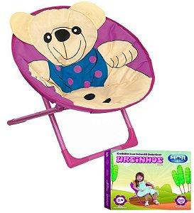 Cadeira Lua Dobrável Infantil Ursinhos