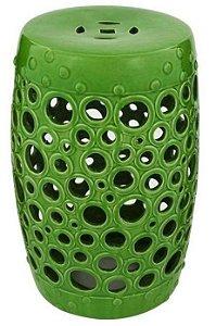 Banqueta Seat Garden em Cerâmica Bubble Verde