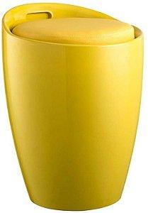 Puff Tubular em ABS Stam Amarelo