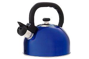 Chaleira Aço Inox 2,5L Mattina Azul