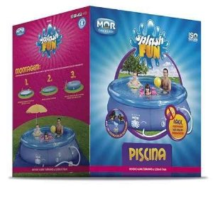 Piscina Redonda 4.600l Inflavel Splash Fun Mor 3,00x0,76