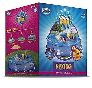 Piscina Redonda 4.600l Inflavel Splash Fun Mor 3,00x0,76